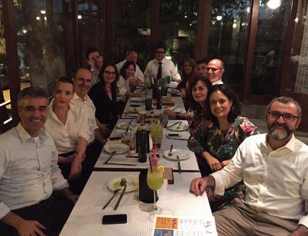 Jantar com a equipe da Galunion e amigos depois da palestra Inovação em Tempos de Crise depois do 8º Congresso Internacional de Foodservice ABIA 2015.